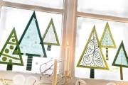 Фото 4 Лучшие варианты украшений на окна к Новому 2018 году