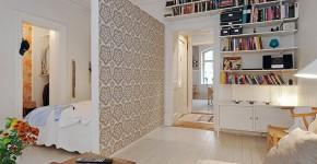 55 идей зонирования однокомнатной квартиры: как разграничить пространство фото
