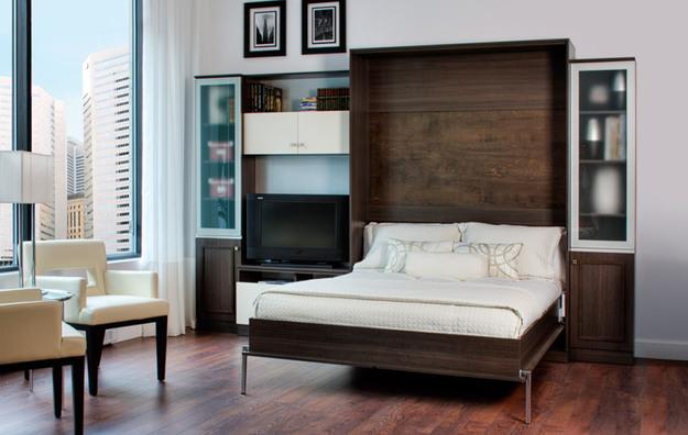 Кровать-трансформер идеально подходит для однокомнатных квартир