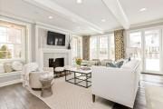 Фото 13 60 идей дизайна интерьера белой гостиной: в каких стилях уместен?
