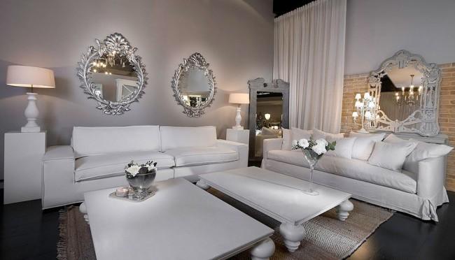 Темный пол и белые стены, мебель - гармония классического интерьера