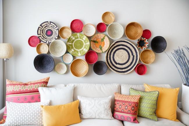 Декоративные тарелки в эко стиле