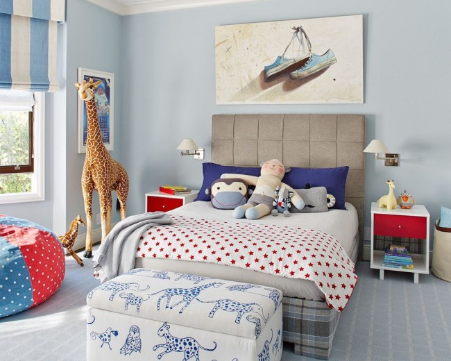 Комната малыша в нежно голубых тонах
