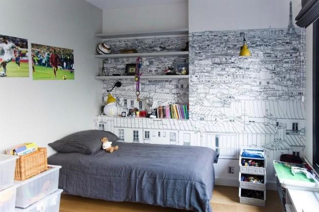 Светлые фотообои для малогабаритной комнаты