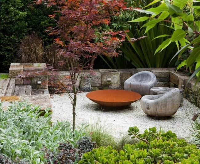 Природность и минимализм встретят нас в саду экостиля