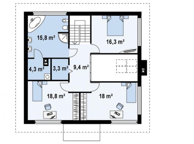 Рис.4. Планировка второго этажа
