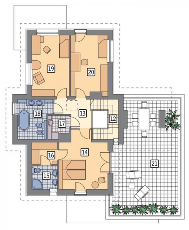 Рис. 11. Планировка второго этажа.