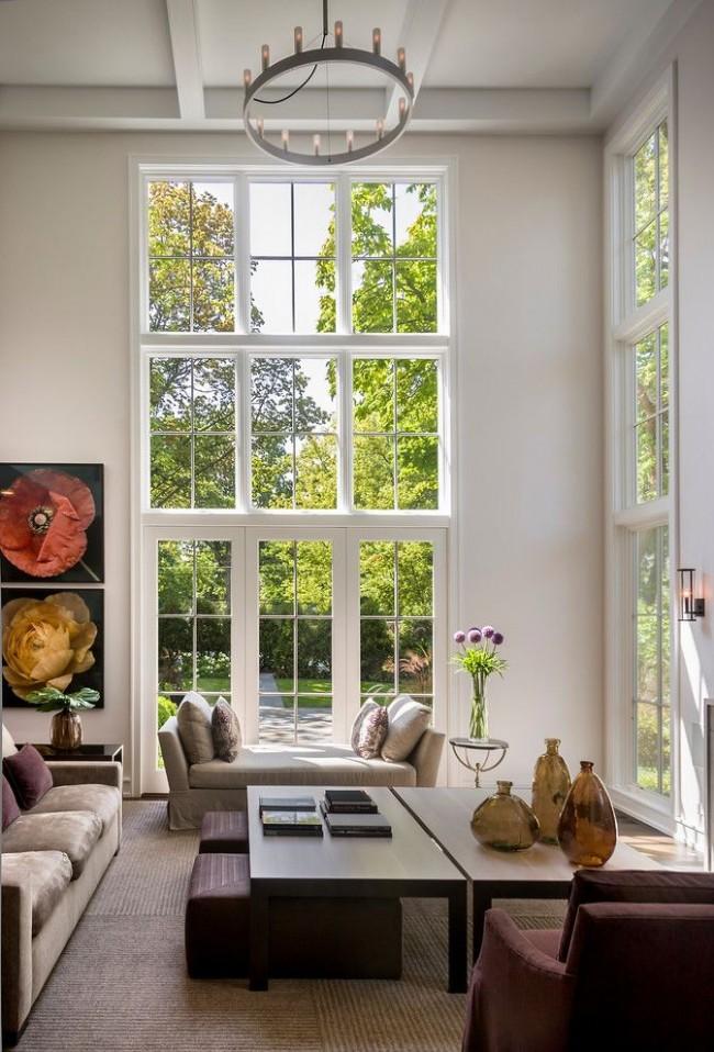 Французские окна прекрасно впишутся в классический интерьер
