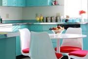 Фото 1 Голубая кухня (115+ фото небесных интерьеров): стильный дизайн для бело-голубых и серо-голубых кухонь