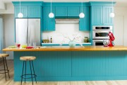 Фото 2 Голубая кухня (115+ фото небесных интерьеров): стильный дизайн для бело-голубых и серо-голубых кухонь