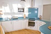Фото 13 Голубая кухня (115+ фото небесных интерьеров): стильный дизайн для бело-голубых и серо-голубых кухонь