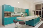 Фото 16 Голубая кухня (115+ фото небесных интерьеров): стильный дизайн для бело-голубых и серо-голубых кухонь
