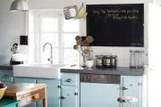 Фото 9 Голубая кухня (115+ фото небесных интерьеров): стильный дизайн для бело-голубых и серо-голубых кухонь