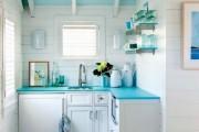 Фото 4 Голубая кухня (115+ фото небесных интерьеров): стильный дизайн для бело-голубых и серо-голубых кухонь