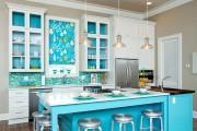 Фото 20 Голубая кухня (100+ фото небесных интерьеров): стильный дизайн для бело-голубых и серо-голубых кухонь