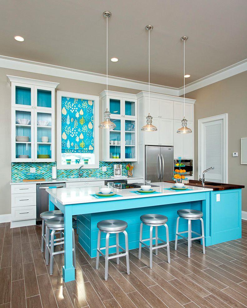 Интерьер кухни фото в голубом цвете