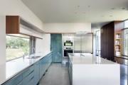 Фото 21 Голубая кухня (100+ фото небесных интерьеров): стильный дизайн для бело-голубых и серо-голубых кухонь