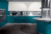 Фото 22 Голубая кухня (115+ фото небесных интерьеров): стильный дизайн для бело-голубых и серо-голубых кухонь