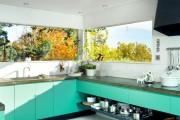 Фото 8 Голубая кухня (100+ фото небесных интерьеров): стильный дизайн для бело-голубых и серо-голубых кухонь