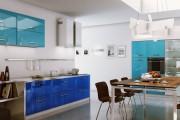 Фото 24 Голубая кухня (100+ фото небесных интерьеров): стильный дизайн для бело-голубых и серо-голубых кухонь