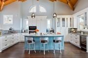 Фото 27 Голубая кухня (100+ фото небесных интерьеров): стильный дизайн для бело-голубых и серо-голубых кухонь