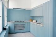 Фото 5 Голубая кухня (115+ фото небесных интерьеров): стильный дизайн для бело-голубых и серо-голубых кухонь