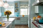 Фото 15 Голубая кухня (115+ фото небесных интерьеров): стильный дизайн для бело-голубых и серо-голубых кухонь