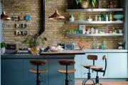 Фото 6 Голубая кухня (100+ фото небесных интерьеров): стильный дизайн для бело-голубых и серо-голубых кухонь