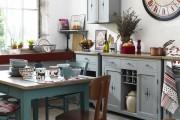 Фото 11 Голубая кухня (115+ фото небесных интерьеров): стильный дизайн для бело-голубых и серо-голубых кухонь