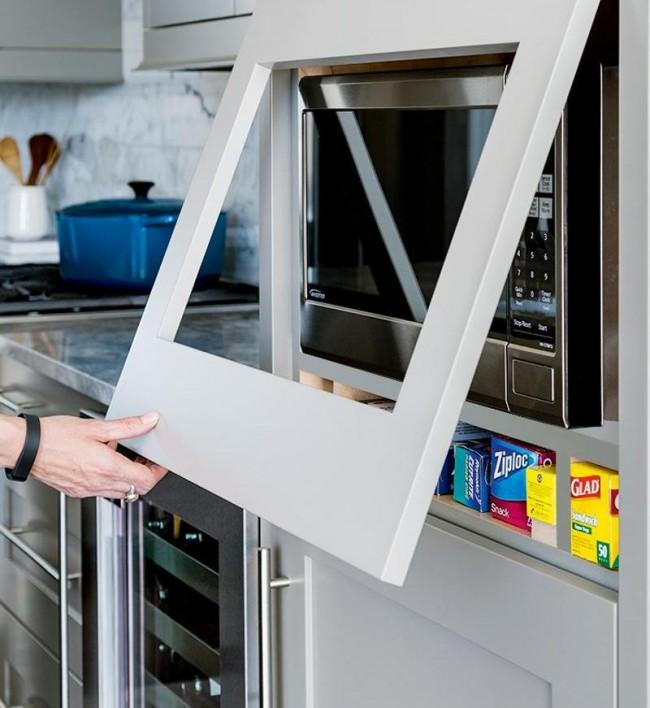 Удачно спрятанная микроволновая печь