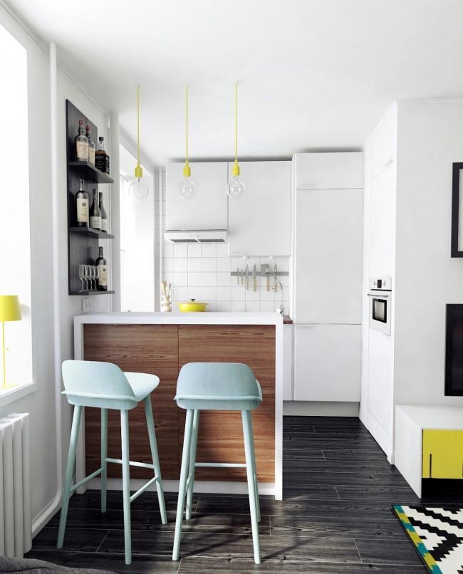 При объединении кухни с гостиной мы получаем большее количество и полезной, и свободной площади