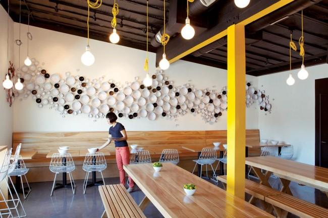 Интерьер кафе-ресторана с применением промышленного дизайна