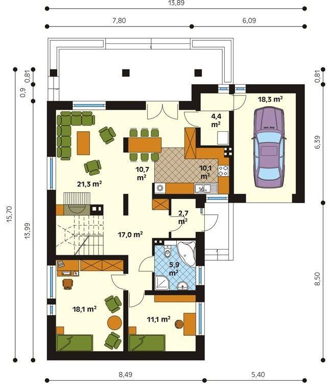 Рис. 5 План первого этажа