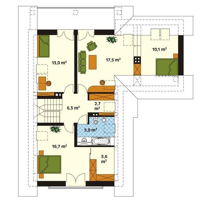 Рис. 6 План второго этажа