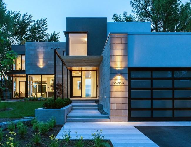 Хай-тек в архитектуре кирпичного дома