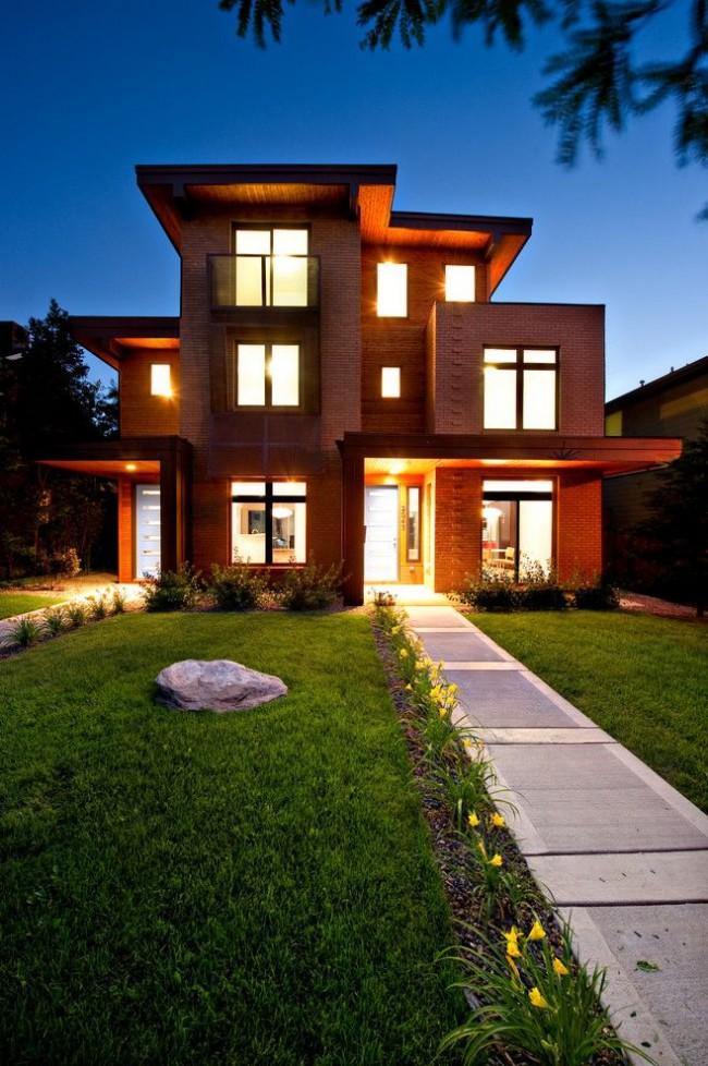 Кирпич – это не только оптимальный строительный материал, но и отличный вариант оформления лицевых сторон зданий