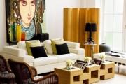 Фото 2 Кофейный столик (60+ фото): сочетаем неординарный дизайн и удобство в современной гостиной