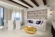 Фото 5 Кофейный столик (60+ фото): сочетаем неординарный дизайн и удобство в современной гостиной