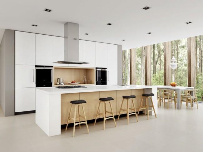 Минималистичная светлая кухня в скандинавском стиле