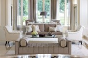 Фото 36 Оттоманка в интерьере (100+ фото): обзор моделей диванов с оттоманками для современной квартиры