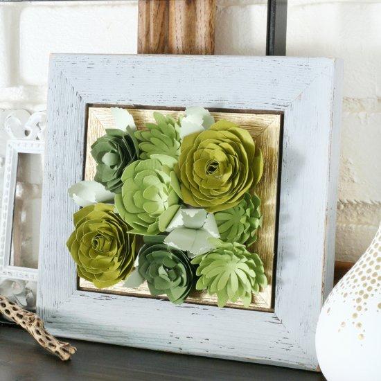 Создайте необычное панно с помощью цветов из бумаги