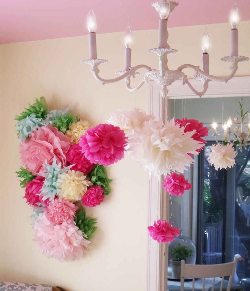 Бумажные интерьерные цветы своими руками