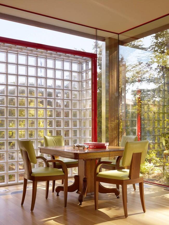 Панорамные окна из стеклоблоков