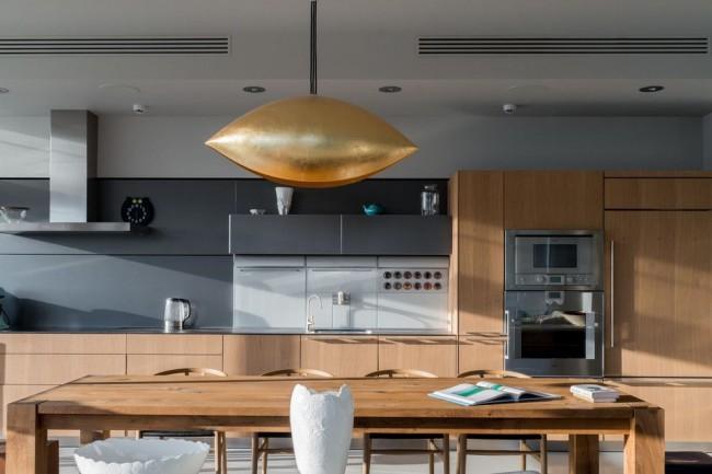 Роскошный и эксклюзивный интерьер кухни в современном стиле модерн