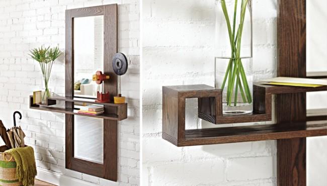 Дизайн зеркала с полками фото 2015 современные идеи