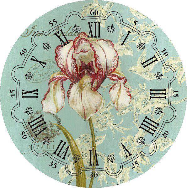 """Готовый циферблат часов """"Ирис"""""""
