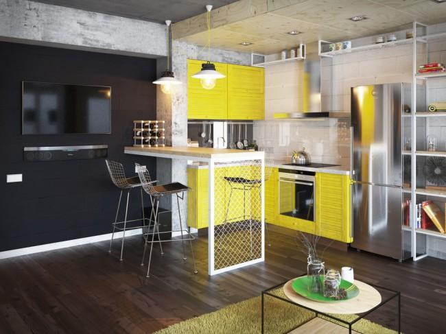 Тип построек-общежитий зачастую таков, что самым органичным и гармонично смотрящимся стилем для оформления комнат в них является индустриальный стиль