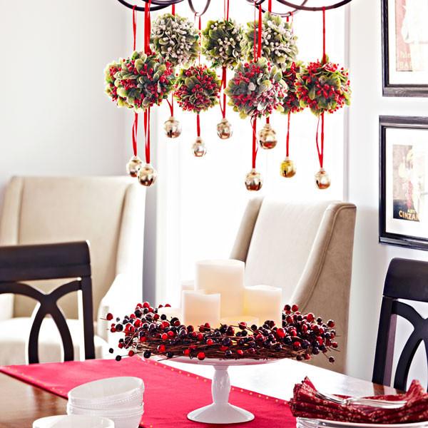 Рождественский декор для гостиной и столовой