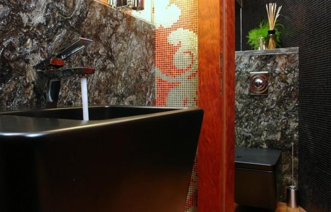 Японский стиль в отделке ванной комнаты