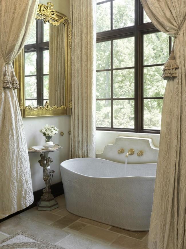 """Очарование стиля ампир (""""Empire"""") в современной ванной комнате"""